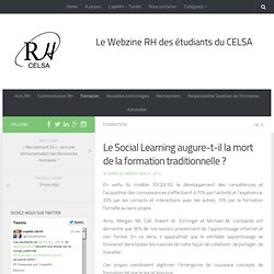 Le Social Learning augure-t-il la mort de la formation traditionnelle ?