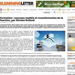 Formation : nouveau modèle et transformation de la fonction, par Nicolas Rolland