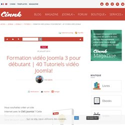 Formation vidéo Joomla 3 pour débutant