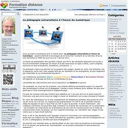 Formation distance » La pédagogie universitaire à l'heure du numérique