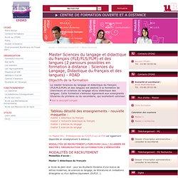 DE - Science du langage - Master - Formation - Université de Bourgogne