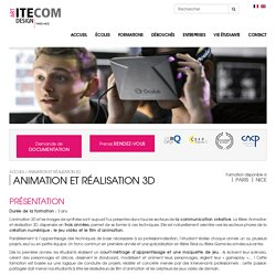 Formation Jeux Video - Ecole Animation 3d