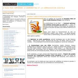 Formation « utiliser le web 2.0 dans un Pôle Relations Presse »