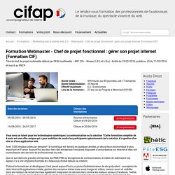 Formation Webmaster - Créer, référencer et animer un site web (Formation CIF)