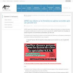 APSES formations du supérieur accessibles après une spécialité S.E.S