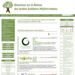 c) Les Formations, Animations, Ateliers et Chantiers dans les jardins du Réseau JSM - RJSM