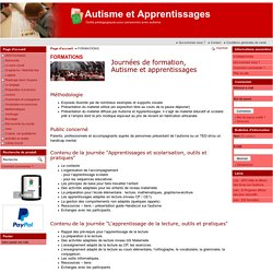 FORMATIONS - Autisme et Apprentissages