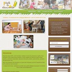 Formations Montessori 0-3 ans