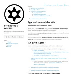 Formations & Ateliers by XavCC