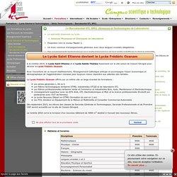 Le Lycée Saint Etienne - Les formations - Baccalauréat STL SPCL - Cesson Sévigné - 35 - France