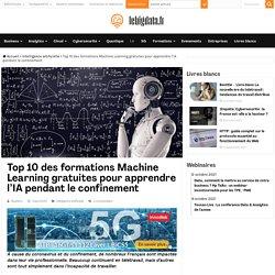 Top 10 des formations Machine Learning gratuites pour apprendre l'IA pendant le confinement