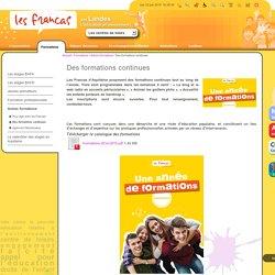 Des formations continues / Autres formations / Formations / Accueil - Les Francas des Landes