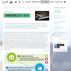 Formations 2017-2018 - Délégation académique au numérique éducatif