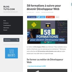 58 formations à suivre pour devenir Développeur Web