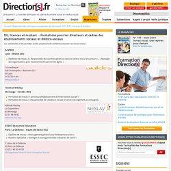 DU, licences et masters - Guide des formations des directeurs et des équipes - Direction[s] - Directions.fr