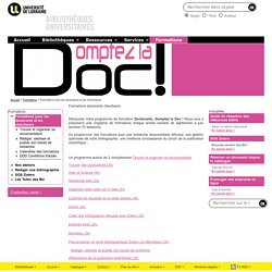 Formations doctorants chercheurs