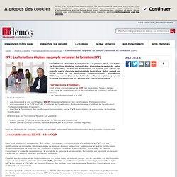 Les formations éligibles au compte personnel de formation (CPF)