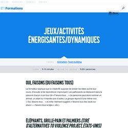 Formations – Jeux/Activités énergisantes/Dynamiques