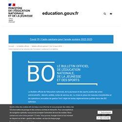 Attendus nationaux des formations supérieures BO spécial n°1 du 12 mars 2018