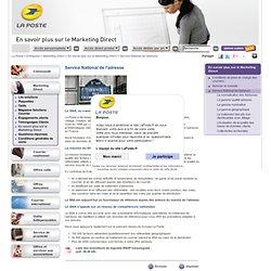 La Poste - SNA - Fichiers de prospection