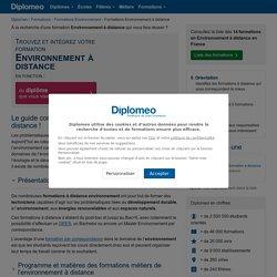 Liste des Formations Environnement à Distance : Trouvez votre Ecole !