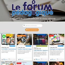 Formations – Le Forum pédagogique
