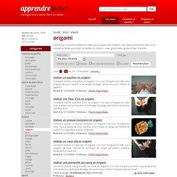 origami - formations et cours de origami gratuits en video