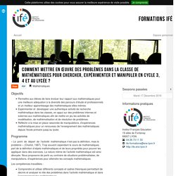 * Formations IFÉ