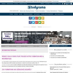 11/2017 - Salon Studyrama des Formations Web et Informatique - Novembre 2017 - PARIS