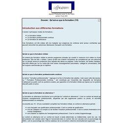 Dossier spécial formations (initiale, continue et alternance)