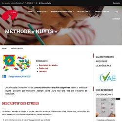 """Méthode """"Nuyts"""" - ILFM Formations - Institut Libre de Formation des Maîtres"""