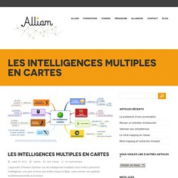 Alliam – Formations mind mapping et pensée visuelle » Les intelligences multiples en cartes
