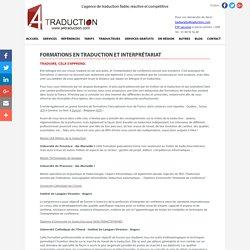 Formations en traduction et interprétariat