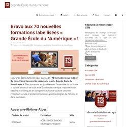 Bravo aux 70 nouvelles formations labellisées « Grande École du Numérique » ! - Grande École du Numérique