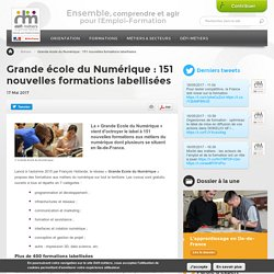 Grande école du Numérique : 151 nouvelles formations labellisées