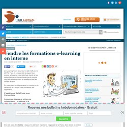 Vendre les formations e-learning en interne