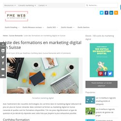 Liste des formations en marketing digital en Suisse