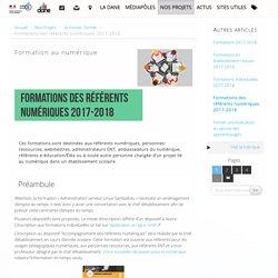 Formations des référents numériques 2016-2017 - Délégation académique au numérique éducatif