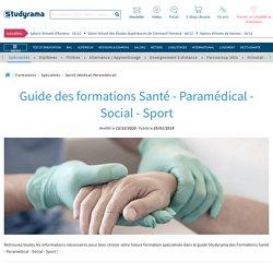 Retrouvez le Guide des Formations Santé - Paramédical - Social - Sport !