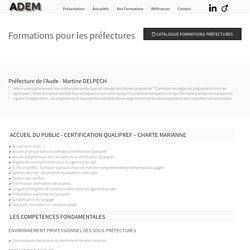 Formations pour les préfectures - ADEM FORMATIONS