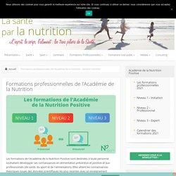 Formations professionnelles de l'Académie de la Nutrition - Sante et nutrition