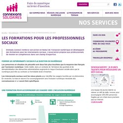 LES FORMATIONS POUR LES PROFESSIONNELS SOCIAUX