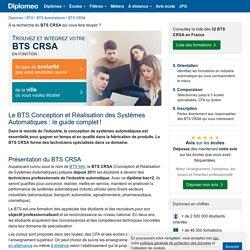 BTS CRSA: liste des formations et programme du diplôme!