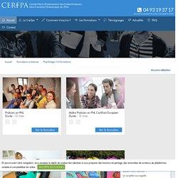 CERFPA, les formations à distance, secteur Psychologie
