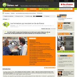 Les formations qui recrutent en Ile-de-France - Dossiers - Les metiers
