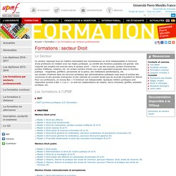 Formations : secteur Droit