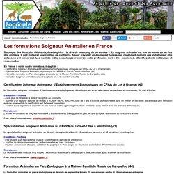 Les formations Soigneur Animalier en France