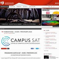 SAT \ Formations - Hiver / Printemps 2015