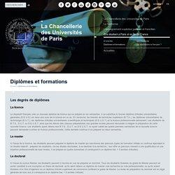 Licence, Master, Doctorat - Diplômes, Formations universitaires Paris, Ile-de-France