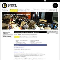 Catalogue des formations - Université de Lorraine